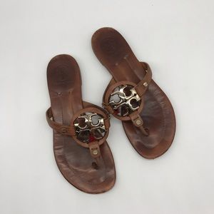 Tory Burch-women metal Miller leather sandals-7